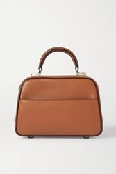 Valextra Series S Small Leather Tote Tan