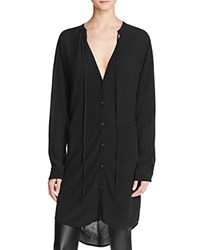 Rails Stephanie Button Tunic Shirt Black