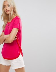 Maison Scotch Core Crew Neck T Shirt 1199 Punch Pink