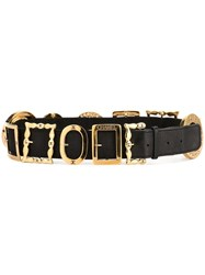 Chanel Vintage Cc Buckle Belt Black