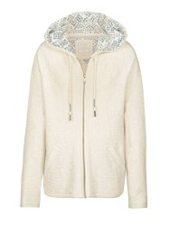 Fat Face Hemsby Textured Hoodie White