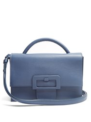 Maison Martin Margiela Buckle Detail Cross Body Bag Blue