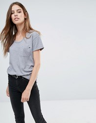 Replay Front Pocket T Shirt Gray