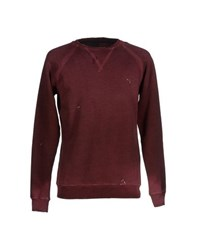 People Topwear Sweatshirts Men Maroon