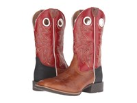 Ariat Heritage Cowhorse Gingersnap Cardinal Red Cowboy Boots Brown