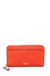 Perlina Zip Around Leather Wallet Red