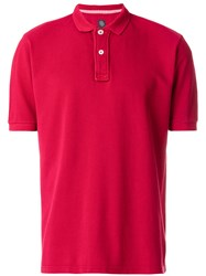 Eleventy Classic Polo Shirt Red