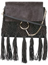 Chloe Fringed Faye Shoulder Bag Black