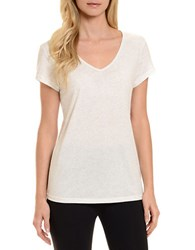 Danskin Solid Sleep Tee Bright White