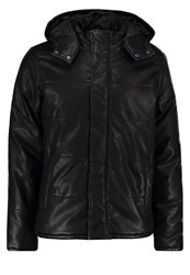 Jack And Jones Jorload Faux Leather Jacket Black