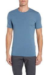 Icebreaker Anatomica Short Sleeve Crewneck T Shirt Granite Blue
