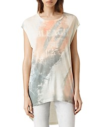 Allsaints Bleach Bard High Low Tee Chalk White