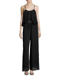 Philosophy Sleeveless Drape Front Jumpsuit Blackbird