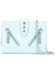 Kenzo Kalifornia Chain Wallet Women Calf Leather One Size Blue