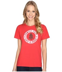 Life Is Good Family Tree Circle Crusher Tee Simply Red Women's T Shirt