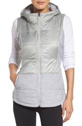 The North Face Women's 'Pseudio' Quilted Vest High Rise Grey Tnf Light Grey
