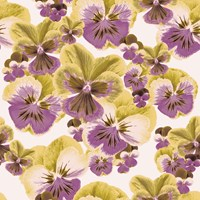 Tempaper Pansies Removable Wallpaper Purple