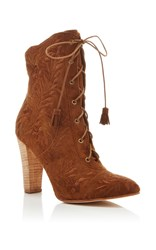 Ulla Johnson Saddle Embroidered Audrey Boot Brown