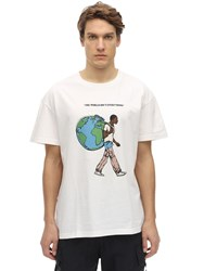 Telfar Tour Cotton Jersey T Shirt White