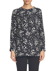 Cece Long Sleeve Tunic Blouse Black