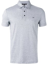 Michael Kors Logo Plaque Polo Shirt Grey