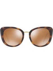 Michael Kors Collection Oversized Tinted Sunglasses Brown