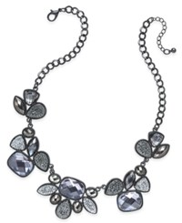 Styleandco. Style And Co. Hematite Tone Monochromatic Crystal Collar Necklace Only At Macy's