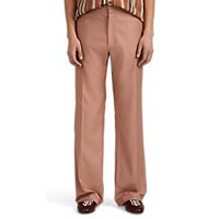 Martin Grant Cotton Twill Straight Trousers Rose