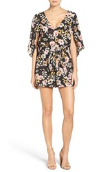 Cupcakes And Cashmere Women's Emile Floral Print Romper
