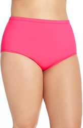 Lablanca Plus Size Women's La Blanca High Waist Bikini Bottoms Pinkberry