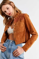 Urban Outfitters Uo Suede Gas Jacket Brown