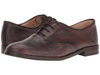 Massimo Matteo Oxford Bal Lace Up Brown Women's Shoes