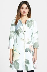 Ted Baker Women's London Rose Print Textured Fit And Flare Jacket
