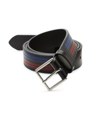 Paul Smith Striped Leather Belt Multi