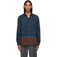 Paul Smith Ps By Navy Floral Tailored Shirt