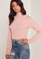 Missguided Pink Turtle Neck Basic Sweater