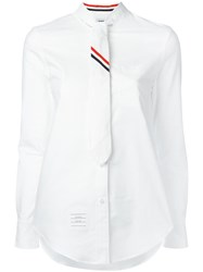 Thom Browne Necktie Shirt White