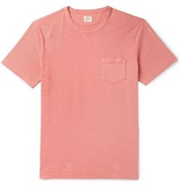 Faherty Garment Dyed Slub Cotton Jersey T Shirt Pink