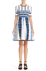 Yigal Azrouel Women's Jacquard Knit Fit And Flare Dress