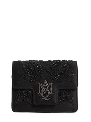 Alexander Mcqueen Insignia Beaded Silk Satin Clutch