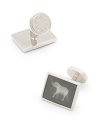 Thomas Pink Elephant Glass Cufflinks