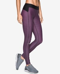 Under Armour Heatgear Printed Compression Leggings Midnight Navy Water