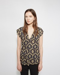 Isabel Marant Trudy Printed Top Yellow