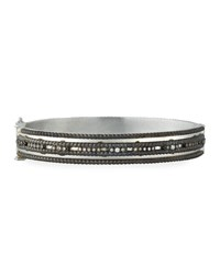 Armenta New World Double Rope Bangle Silver