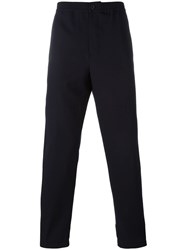 Marni Touch Strap Cuff Trousers Blue