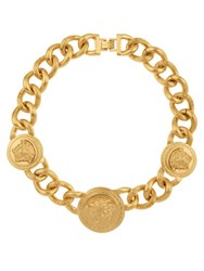 Versace Medusa Chain Necklace Yellow Gold