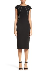 Lafayette 148 New York Women's Contrast Piping Deloris Dress