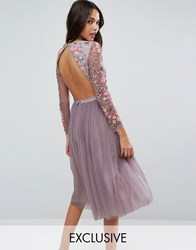 Needle And Thread Ditsy Scatter Tulle Midi Dress Lavender Purple