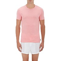 Paul Smith Men's Heathered Cotton T Shirt Pink