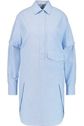 Alexander Wang Cotton Chambray Shirt Dress Blue